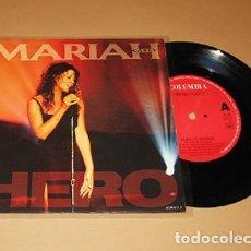 Discos de vinilo: MARIAH CAREY - HERO - SINGLE - 1993 - IMPORT. Lote 237006215