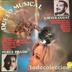Discos de vinilo: EDMUNDO RODRIGUEZ Y ORQUESTA – DUELO MUSICAL - XAVIER CUGAT Y PEREZ PRADO LP. Lote 237006605