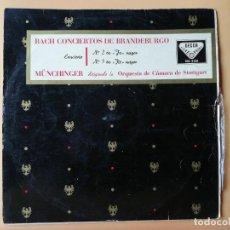 Discos de vinilo: CONCIERTOS DE BRANDEBURGO. NÚMEROS 2, EN FA MAYOR, Nº 5 EN RE MAYOR. LA ORQUESTA DE CÁMARA DE STUTTG. Lote 237026510