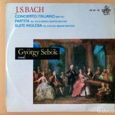 Discos de vinilo: CONCIERTO ITALIANO BWV 971. PARTITA Nº 1 EN SI BEMOL MAYOR BWV 825. SUITE INGLESA Nº3 EN SOL MENOR B. Lote 237026515
