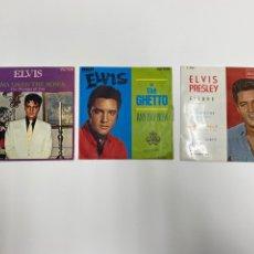 Discos de vinilo: LOTE DE 3 DISCOS SINGLES ELVIS PRESLEY. 1962, 1969, 1970.. Lote 237040135