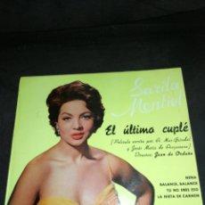Discos de vinilo: SARA MONTIEL, DISCO VINILO EPS, 1966,VALENCIA,CLAVELITOS,VEN Y VEN ETC.. COLUMBIA.. Lote 237062795