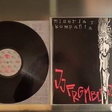 Disques de vinyle: VINILO MISERIA Y COMPAÑIA + SPATEK 1992 ,DESCATALOGADO.. Lote 237074600