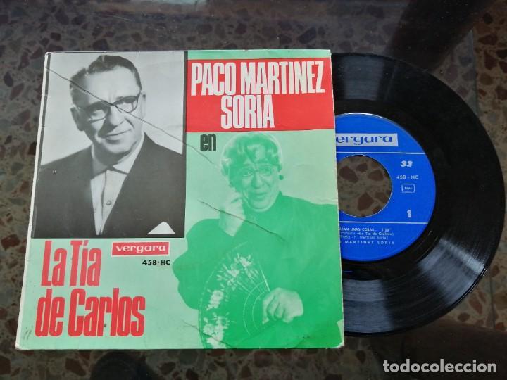 PACO MARTÍNEZ SORIA EN LA TIA DE CARLOS (Música - Discos - Singles Vinilo - Bandas Sonoras y Actores)