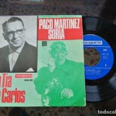 Discos de vinilo: PACO MARTÍNEZ SORIA EN LA TIA DE CARLOS. Lote 237076940