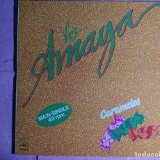 """Discos de vinilo: 12"""" LOS AMAYA – CARAMELOS - HORUS 55.017 - SPAIN PRESS - MAXI (NM/NM). Lote 237081140"""