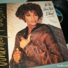 Discos de vinilo: WHITNEY HOUSTON - ALL THE MAN THAT I NEED .. MAXISINGLE - EXTENDED VERSION DE 1990. Lote 237083505