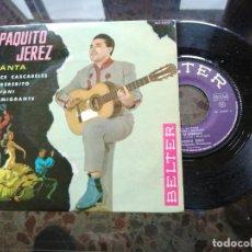Discos de vinilo: PAQUITO JEREZ CANTA DOCE CASCABELES. Lote 237083840