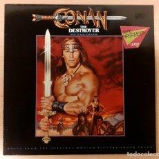 Disques de vinyle: CONAN THE DESTROYER BASIL POLEDOURIS ORIGINAL MCA 1984 COMO NUEVO!! RARO!!. Lote 237105490