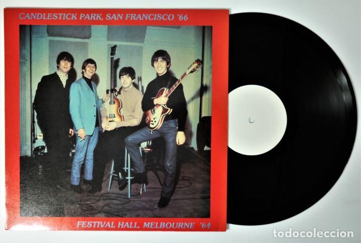 Discos de vinilo: The Beatles – Candlestick Park San Francisco 66 / Festival Hall Melbourne 64 / Rare - Foto 4 - 237106405