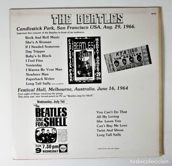 Discos de vinilo: The Beatles – Candlestick Park San Francisco 66 / Festival Hall Melbourne 64 / Rare - Foto 7 - 237106405