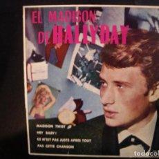 Discos de vinil: JOHNNY HALLYDAY- EL MADISON. EP.. Lote 237112460