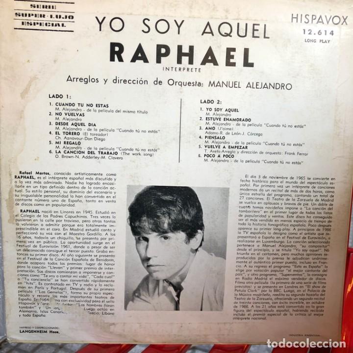 Discos de vinilo: LP argentino de Raphael año 1965 - Foto 2 - 237164300