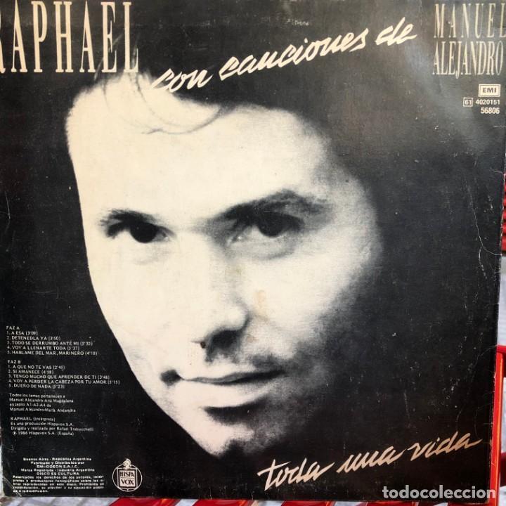 Discos de vinilo: LP argentino de Raphael año 1986 - Foto 2 - 237168575
