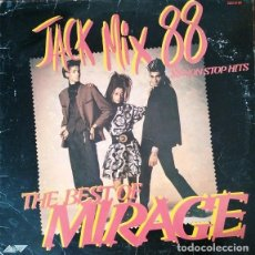 Discos de vinilo: MIRAGE - THE BEST OF MIRAGE - JACK MIX 88 - 88 NON STOP MIX - LP DE VINILO #. Lote 237174540