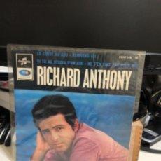 Discos de vinilo: DISCO VINILO DE RICHARD ANTHONY. LA CORDE AU COU-SOUVIENS-TOI. Lote 237183370