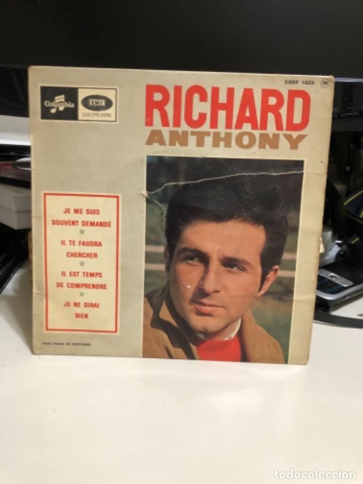 DISCO VINILO DE RICHARD ANTHONY (Música - Discos de Vinilo - Maxi Singles - Canción Francesa e Italiana)