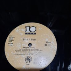 Disques de vinyle: SOUL II SOUL - PEOPLE. SOLO DISCO. Lote 237194250