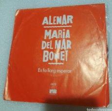 Discos de vinilo: MARIA DEL MAR BONET - ALENAR. Lote 237194510