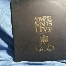 Discos de vinilo: SIMPLE MINDS ' LIVE IN THE CITY O LIGHT' EDICION ESPAÑA 1987 DISCO DOBLE. Lote 237198750