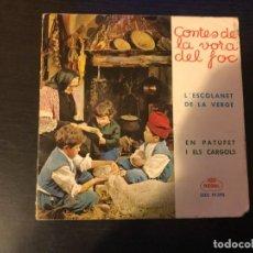 Discos de vinilo: SIGLE DE CONTES DE LA VORA DEL FOC - INFANTIL - EN CATALAN SINGLE. Lote 237213505