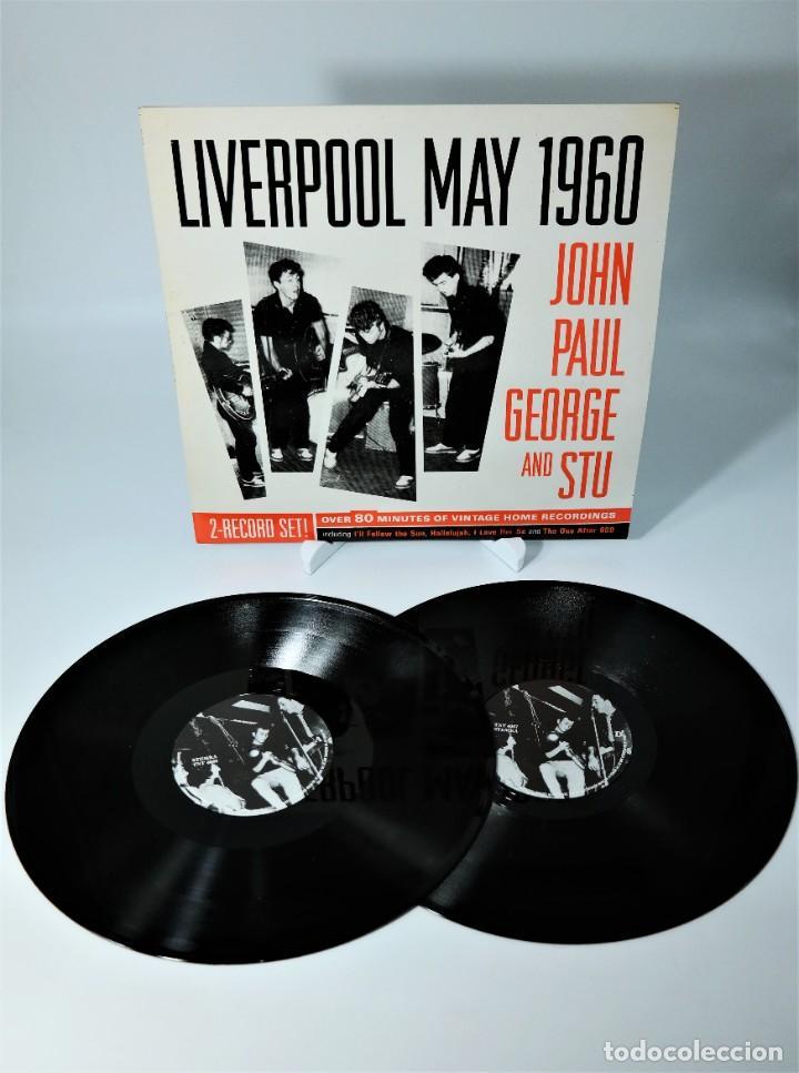 THE BEATLES- JOHN, PAUL, GEORGE AND STU – LIVERPOOL MAY 1960 (Música - Discos - Singles Vinilo - Pop - Rock Internacional de los 50 y 60)