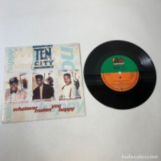 Discos de vinilo: SINGLE - TEN CITY - WHATEVER MAKES YOU HAPPY - GERMANY 1990. Lote 237261260