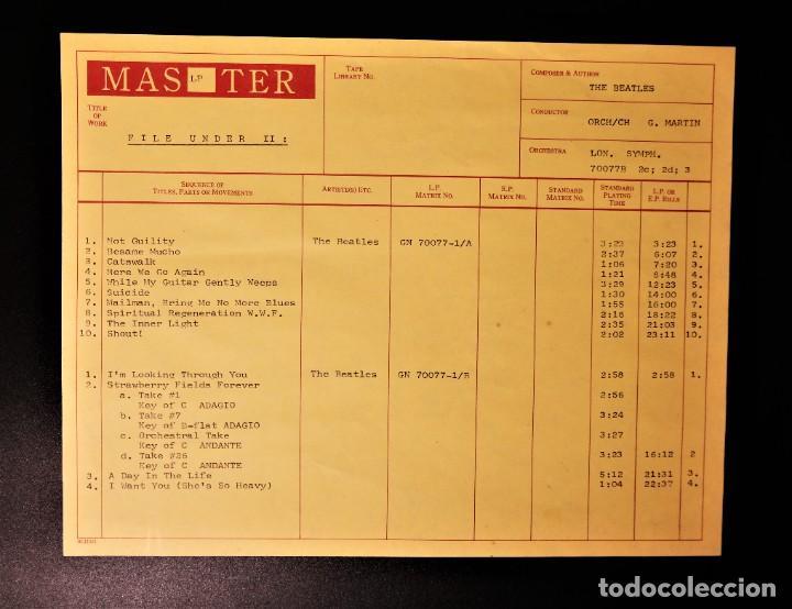 """Discos de vinilo: Beatles - File Under: Beatles Volume Two / Mega Rare """"Master LP - Foto 3 - 237262720"""