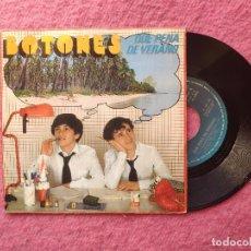 Discos de vinilo: SINGLE BOTONES - QUE PENA DE VERANO / LA PANDA - EPC A-2500 - (EX+/EX+). Lote 237282860