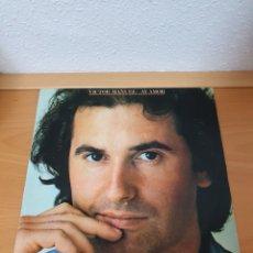 Discos de vinilo: VINILO VICTOR MANUEL. AY AMOR. LP - CBS 1985 SPAIN CBS 32602 EXCELENTE. Lote 237283880
