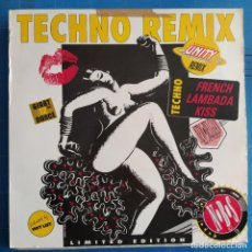 "Discos de vinilo: LIPSKISS - FRENCH LAMBADA KISS (TECHNO REMIX) (12"", MAXI, LTD). Lote 237286965"