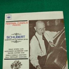 Discos de vinilo: FESTIVAL CASALS PRADES. SCHUBERT QUINTETO EN DO MAYOR OP. 163. LP CBS.. Lote 237307360