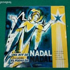 Discos de vinilo: UNA NIT DE NADAL. R. FERRER. J.M. DE SAGARRA. CORAL SANT JORDI. LP VERGARA.. Lote 237312475