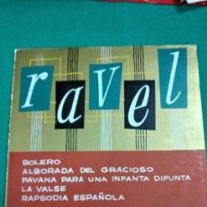 Discos de vinilo: MAURICE RAVEL LA VALSE, BOLERO, RAPSODIA ESPAÑOLA... O.SINFONICA DE LA RADIO DE PARIS LP BELTER VOX. Lote 237313000