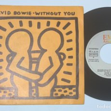 Discos de vinilo: SINGLE EP DAVID BOWIE WITHOUT YOU EDICIÓN ESPAÑOLA DE 1983. Lote 237321630