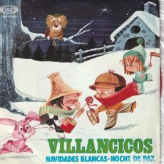 Discos de vinilo: ESCOLANIA DEL COLEGIO DE SAN ANTONIO DE MADRID - VILLANCICOS (SINGLE MOVIEPLAY 1968) VINILO ROJO. Lote 237324265