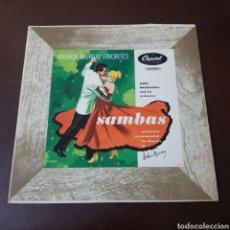 Discos de vinilo: SAMBAS - ARTHUR MURRAY FAVORITES - EMRIC MADRIGUERA AND HIS ORCHESTRA - CAPITOL RECORDS USA. Lote 237338820