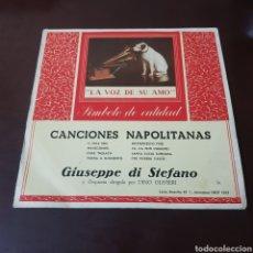 Discos de vinilo: CANCIONES NAPOLITANAS - GIUSEPPE DI STEFANO Y SU ORQUESTA DIRIGIDA DINO OLIVIERI - LA VOZ DE SU AMO. Lote 237340845