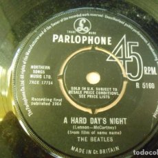 Discos de vinilo: BEATLES, THE, SG, A HARD DAY´D NIGHT + 1, AÑO 19??, MADE IN GT. BRITAIN - SIN PORTADA -. Lote 237342170