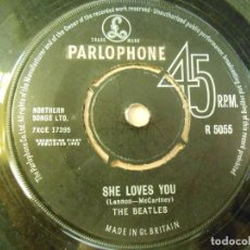 Discos de vinilo: BEATLES, THE, SG, SHE LOVES YOU + 1, AÑO 19??, MADE IN GT. BRITAIN - SIN PORTADA -. Lote 237343420