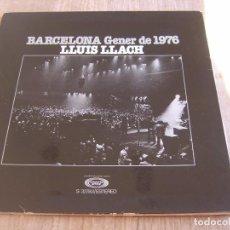 Discos de vinilo: LLUÍS LLACH. BARCELONA GENER DE 1976. CARPETA LP. PROBADO.. Lote 237343535