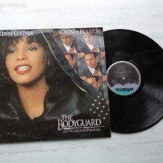 Discos de vinilo: VARIOUS – THE BODYGUARD (EL GUARDAESPALDAS) LP BSO SPAIN 1992 VG++/VG++ WHITNEY HOUSTON. Lote 237344745