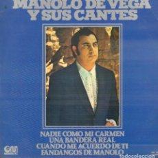 Discos de vinilo: MANOLO DE VEGA Y SUS CANTES - NADIE COMO MI CARMEN...LP GM DE 1977 RF-9042. Lote 237350265