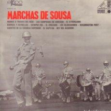Discos de vinilo: MARCHAS DE SOUSA - MANOS A TRAVES DEL MAR, EL ATRONADOR, REY DE ALGODON / LP EKIPO RF-9054. Lote 237357725