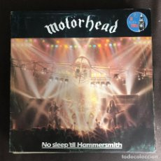 Discos de vinilo: MOTORHEAD - NO SLEEP 'TIL HAMMERSMITH - LP BRONZE SPAIN 1981. Lote 237366160