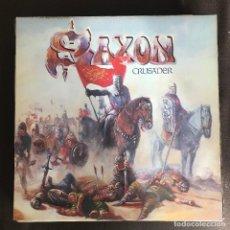 Discos de vinilo: SAXON - CRUSADER - LP CARRERE SPAIN 1984. Lote 237367100