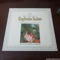Discos de vinilo: JOHANN SEBASTIÁN BACH - SUITES INGLESAS N° 1 Y 2. Lote 237372225
