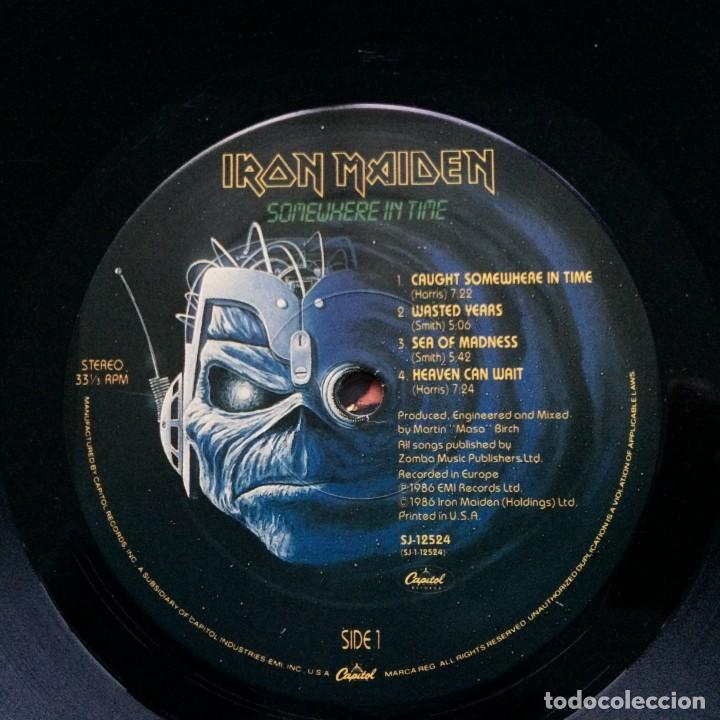 Discos de vinilo: IRON MAIDEN ( SOMEWHERE IN TIME ) USA - 1986 LP33 CAPITOL RECORDS - Foto 5 - 237010815