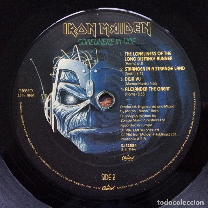 Discos de vinilo: IRON MAIDEN ( SOMEWHERE IN TIME ) USA - 1986 LP33 CAPITOL RECORDS - Foto 6 - 237010815