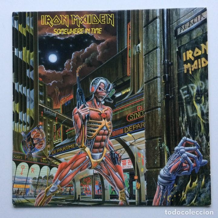 IRON MAIDEN ( SOMEWHERE IN TIME ) USA - 1986 LP33 CAPITOL RECORDS (Música - Discos - LP Vinilo - Heavy - Metal)